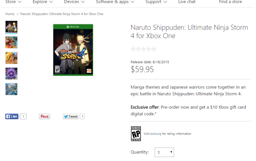Shippuden: Ultimate Ninja Storm 4' PS4, Xbox One, PC Release Date ...